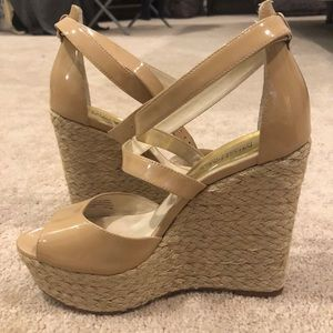 Michael Kors strappy nude wedges